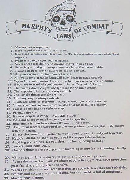 Murphy's Laws of Combat $5 00