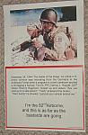 "Poster 82nd Airborne Foxhole ""This is as far as the bastards are going"" $5.00"